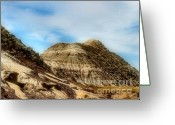 Drumheller Greeting Cards - The Badlands Greeting Card by David  Hubbs
