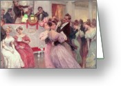 Society Greeting Cards - The Ball Greeting Card by Charles Wilda