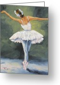 Ballet Dancer Greeting Cards - The Ballerina II   Greeting Card by Torrie Smiley