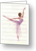 Ballet Dancer Greeting Cards - The Ballerina Greeting Card by Stefan Kuhn