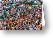 Baseball Game Digital Art Greeting Cards - The Ballgame Greeting Card by Jeff Breiman