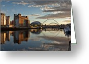 Gloaming Greeting Cards - The Baltic Arts centre Greeting Card by Gary Finnigan