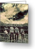 Gloomy Greeting Cards - The Band Has Arrived Greeting Card by Meirion Matthias
