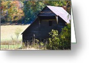 Autumn Colors Greeting Cards - The Barn Greeting Card by Carolyn Marshall