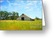 Old Barns Photo Greeting Cards - The Barn Greeting Card by Cheryl Young