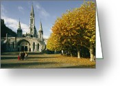 Sanctified Greeting Cards - The Basilica Of The Immaculate Greeting Card by Martin Gray