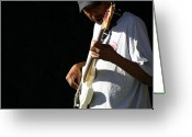 T-shirt Greeting Cards - The Bassman Greeting Card by Joe Kozlowski