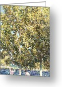 Bare Trees Painting Greeting Cards - The Bathers Greeting Card by Childe Hassam