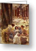 Nudes Greeting Cards - The Baths of Caracalla Greeting Card by Sir Lawrence Alma-Tadema