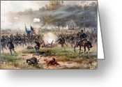 Antietam Greeting Cards - The Battle of Antietam Greeting Card by War Is Hell Store