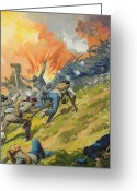 Confederates Greeting Cards - The Battle of Gettysburg Greeting Card by Severino Baraldi