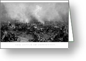 The War Between The States Greeting Cards - The Battle of Gettysburg Greeting Card by War Is Hell Store