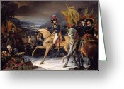 Napoleonic Wars Greeting Cards - The Battle of Hohenlinden Greeting Card by Henri Frederic Schopin