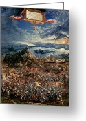 Bataille Greeting Cards - The Battle of Issus Greeting Card by Albrecht Altdorfer