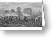 Patriot Mixed Media Greeting Cards - The Battle of Lexington Greeting Card by War Is Hell Store