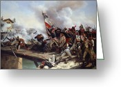 Napoleonic Wars Greeting Cards - The Battle of Pont dArcole Greeting Card by Emile Jean Horace Vernet