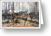 Landing Painting Greeting Cards - The Battle of Shiloh Greeting Card by War Is Hell Store