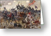 Star-spangled Banner Greeting Cards - The Battle of Spotsylvania Greeting Card by Henry Alexander Ogden