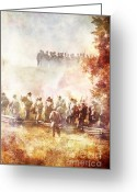 Confederates Greeting Cards - The Battle  Greeting Card by Stephanie Frey