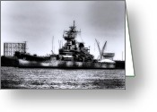 Delaware River Greeting Cards - The Battleship New Jersey Greeting Card by Bill Cannon