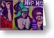 Sit-ins Painting Greeting Cards - The Bay Area  Greeting Card by Tony B Conscious