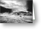 Silver Gelatin Greeting Cards - The Beach at Bridgehampton Greeting Card by Simon Marsden