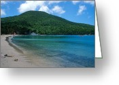 Island Photos Greeting Cards - The Beach at Caneel Bay Greeting Card by Kathy Yates