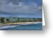 Print Landscape Greeting Cards - The Beach At Santa Barbara Greeting Card by Steven Ainsworth