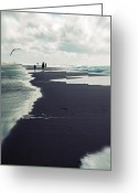 Flood Greeting Cards - The Beach Greeting Card by Joana Kruse