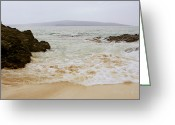 Surge Greeting Cards - The Beach Greeting Card by Sharon Mau