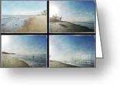 San Clemente Pier Greeting Cards - The Beaches of San Clemente Collage Greeting Card by Traci Lehman