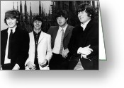 George Harrison Photo Greeting Cards - THE BEATLES, 1960s Greeting Card by Granger