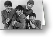 Seated Greeting Cards - The Beatles, 1963 Greeting Card by Granger
