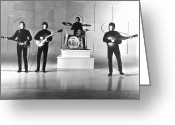 Rock And Roll Glass Greeting Cards - The Beatles, 1965 Greeting Card by Granger