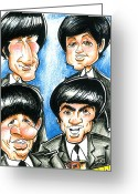 Paul Mccartney Drawings Greeting Cards - The Beatles Greeting Card by Big Mike Roate