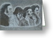 Paul Mccartney Drawings Greeting Cards - The Beatles  Greeting Card by Jessica Hallberg