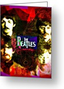 Paul Mccartney Greeting Cards - The Beatles Greeting Card by Kevin Moore