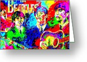 Music Legends Greeting Cards - The Beatles Greeting Card by Mike OBrien