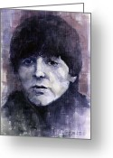 Celebrities Painting Greeting Cards - The Beatles Paul McCartney Greeting Card by Yuriy  Shevchuk