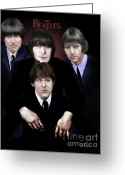 George Harrison Painting Greeting Cards - The Beatles Greeting Card by Reggie Duffie