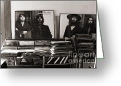 George Harrison Photo Greeting Cards - The Beatles Yesterday Greeting Card by Anna Payne