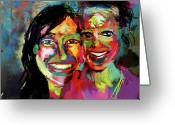 Jim Thomas Greeting Cards - The Beautiful Bainter Girls Greeting Card by James Thomas