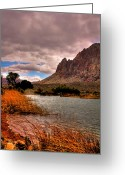 Mojave Greeting Cards - The Beautiful Red Rock Canyon in Nevada Greeting Card by David Patterson
