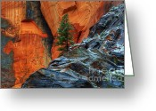 Thelightscene Greeting Cards - The Beauty Of Sandstone Greeting Card by Bob Christopher