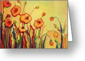 Poppy Greeting Cards - The Beckoning Greeting Card by Jennifer Lommers