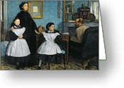 Portraits Greeting Cards - The Bellelli Family Greeting Card by Edgar Degas