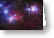 H Ii Regions Greeting Cards - The Belt Stars Of Orion Greeting Card by Robert Gendler