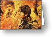 George Harrison Painting Greeting Cards - The Best Forever Greeting Card by Igor Postash