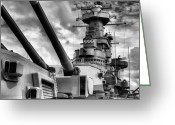 Warship Greeting Cards - The Big NC Greeting Card by JC Findley