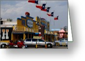 Texan Greeting Cards - The Big Texan in Amarillo Greeting Card by Susanne Van Hulst